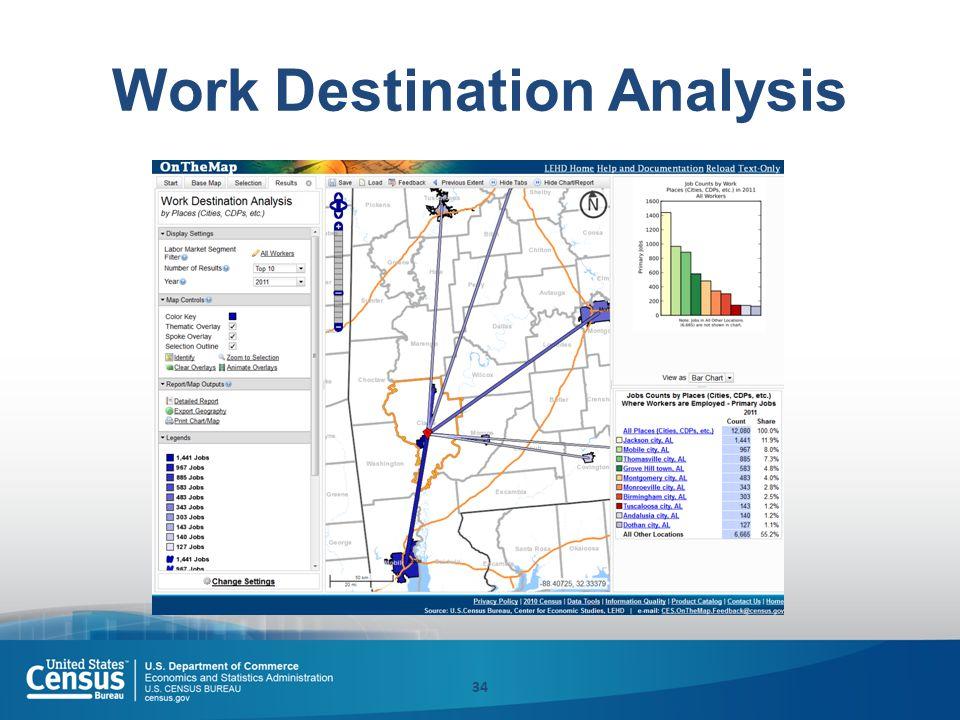Work Destination Analysis 34