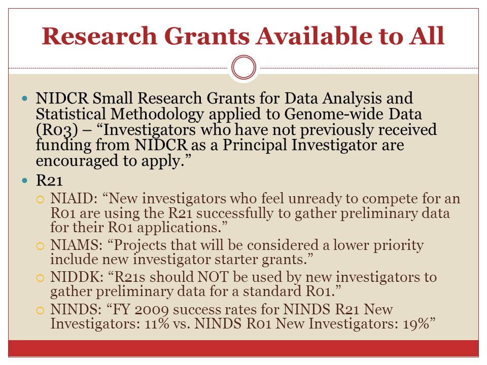 """Research Grants Available to All NIDCR Small Research Grants for Data Analysis and Statistical Methodology applied to Genome-wide Data (R03) – """"Invest"""