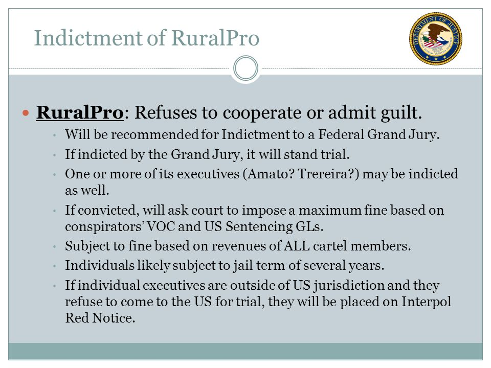 RuralPro: Refuses to cooperate or admit guilt.