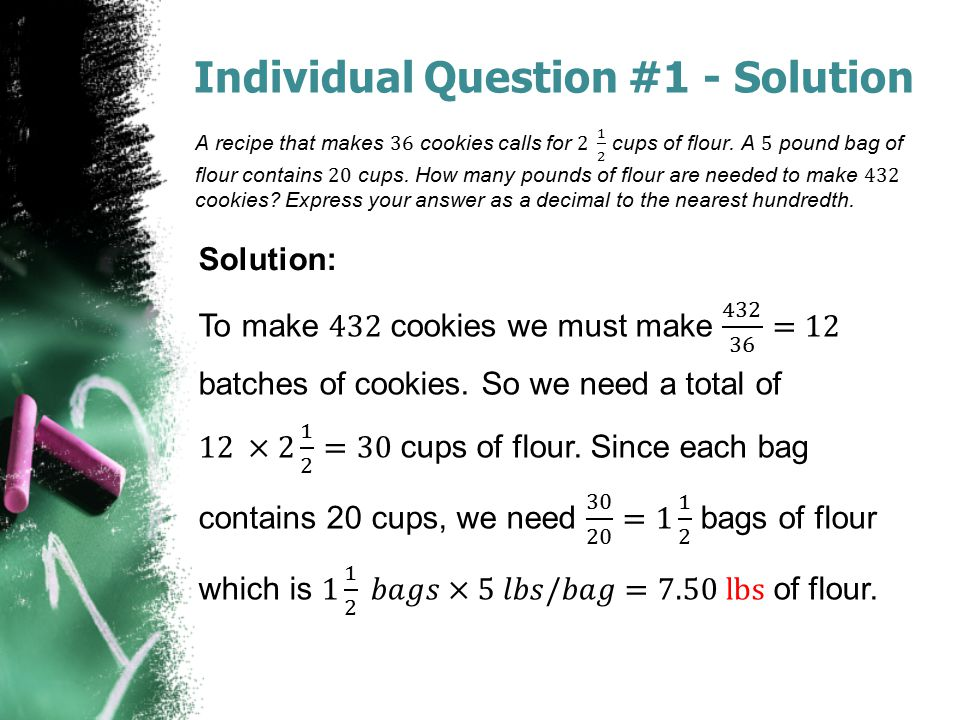 Individual Question #1 - Solution Solution: