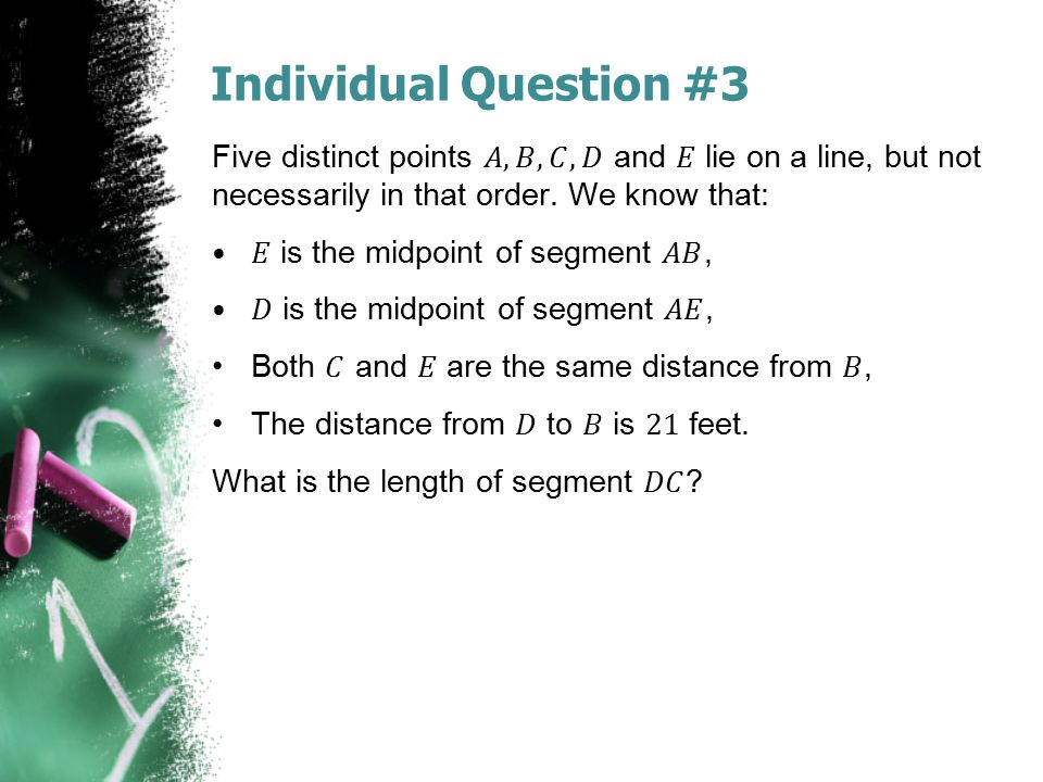 Individual Question #3