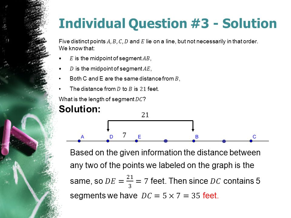 Individual Question #3 - Solution Solution: