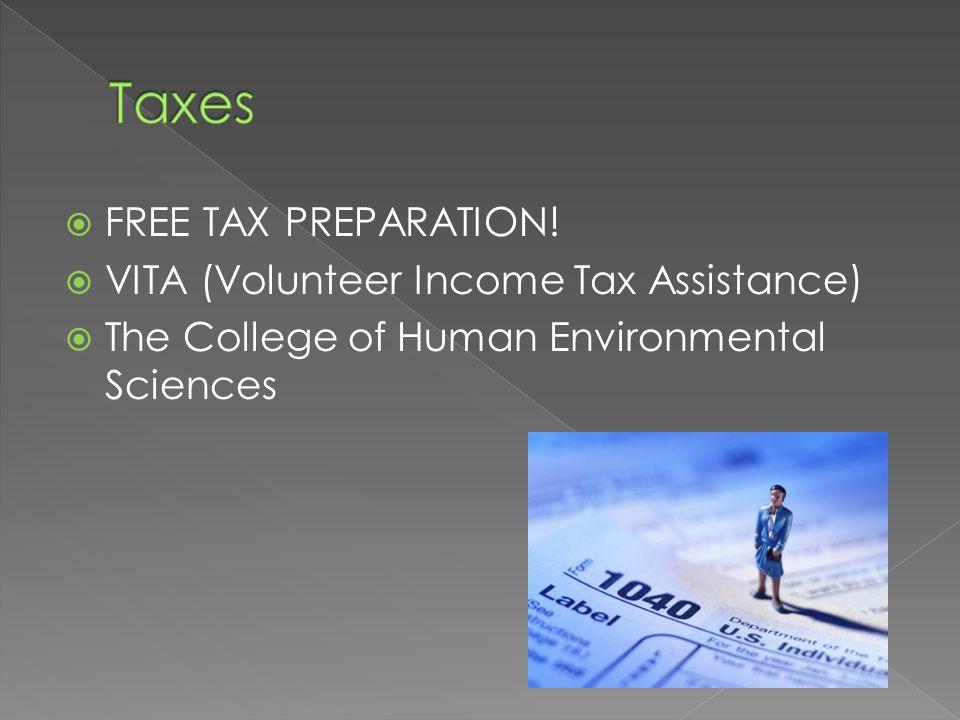  FREE TAX PREPARATION.