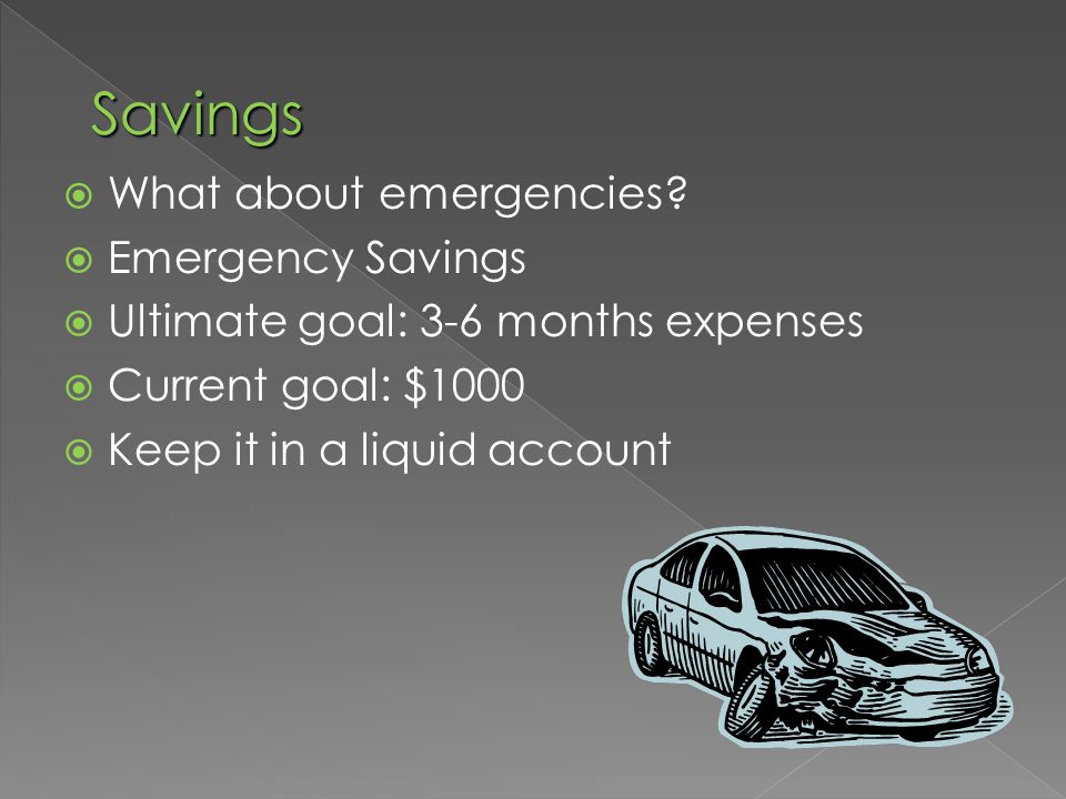  What about emergencies.