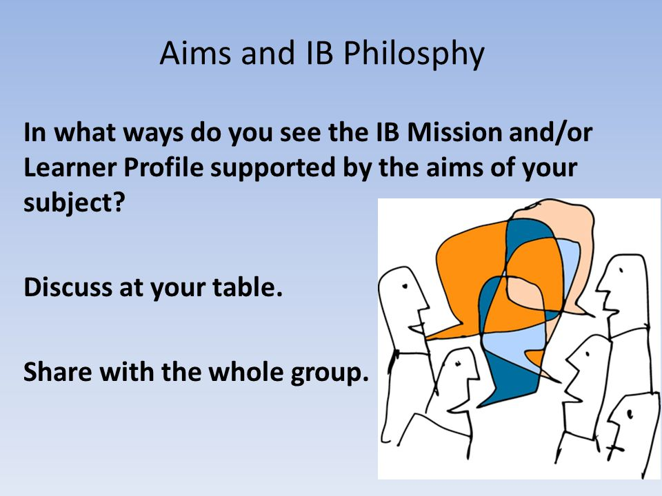 Arriving at an IBMYP grade In pairs, discuss: What goes into your students' grades.