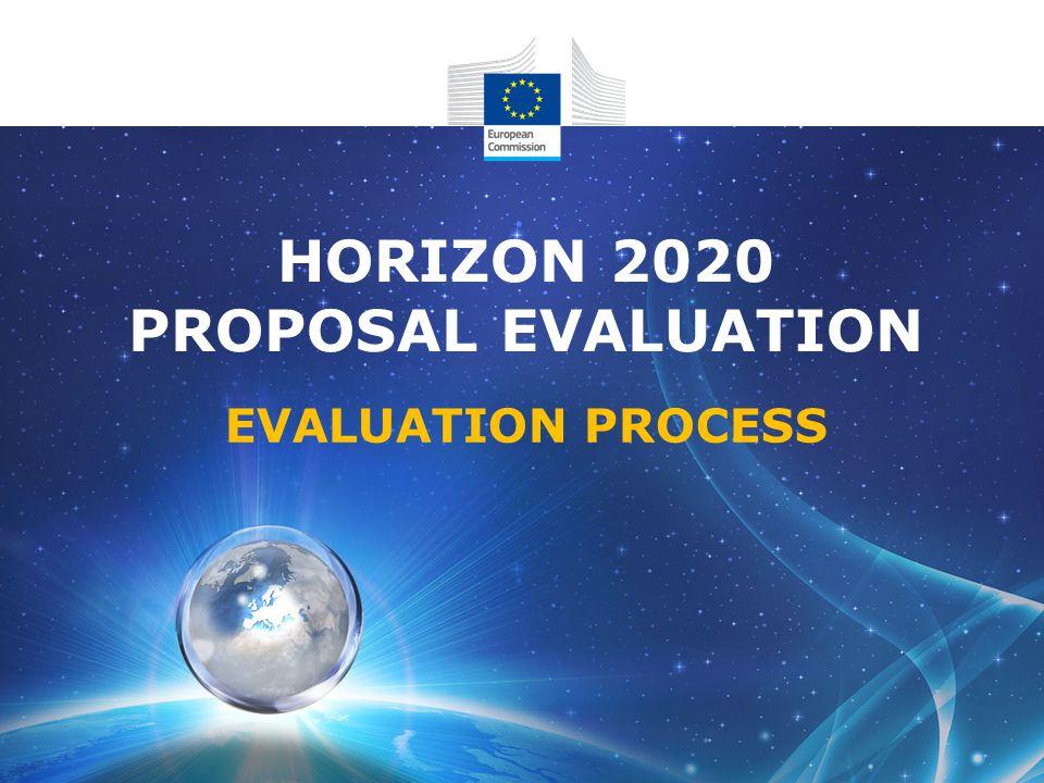 HORIZON 2020 PROPOSAL EVALUATION EVALUATION PROCESS