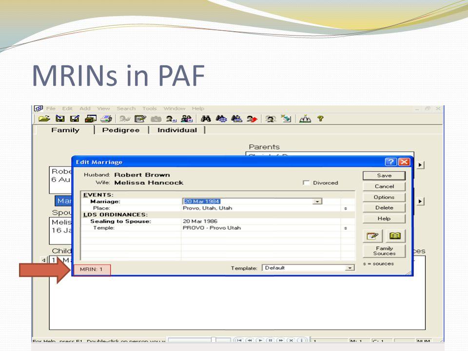 MRINs in PAF