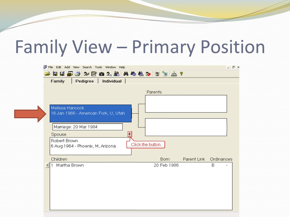 Family View – Primary Position