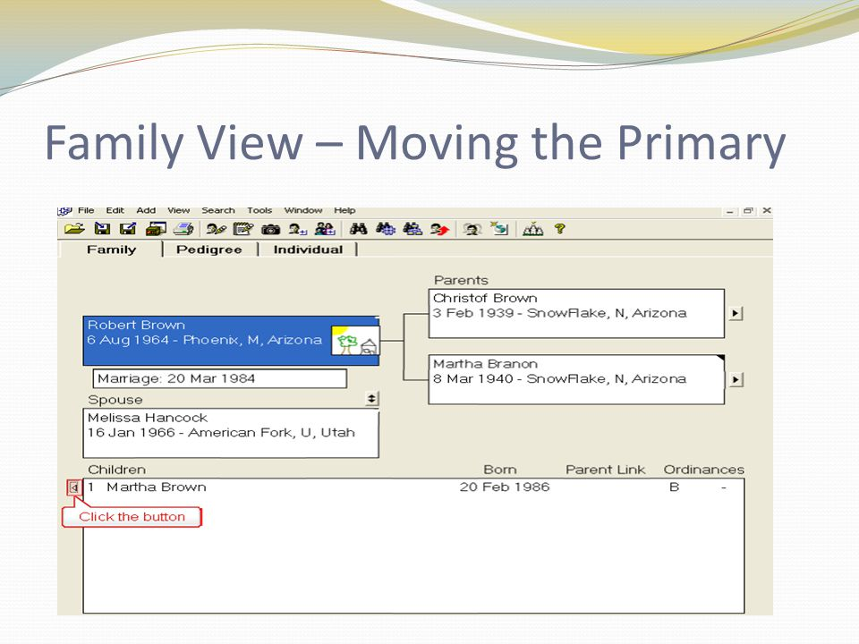 Family View – Moving the Primary