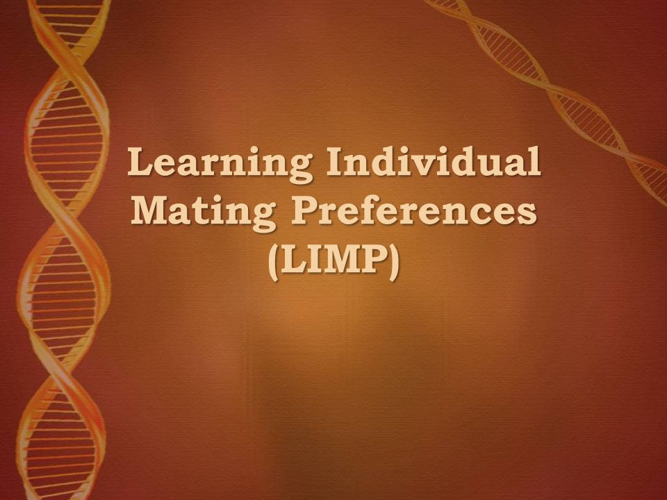 Learning Individual Mating Preferences (LIMP)