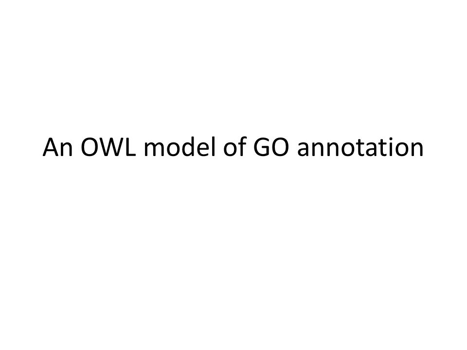 An OWL model of GO annotation