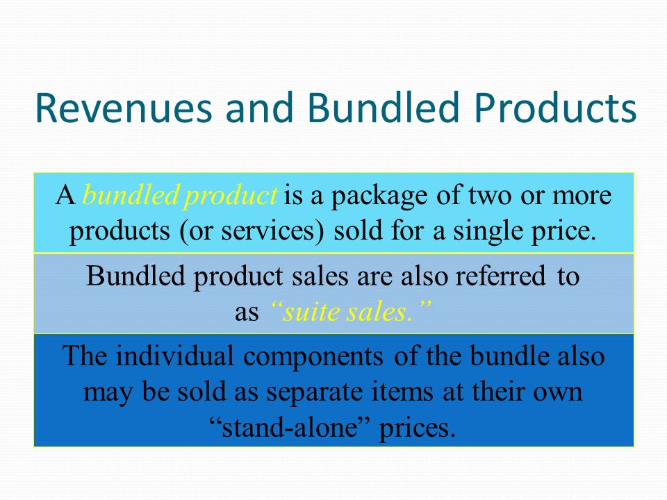 Stand-Alone Revenue Allocation Method Stand-alone product revenues: This method captures the quantity of each product sold as well as their selling prices.