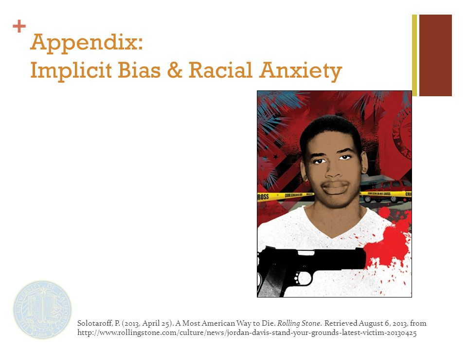 + Appendix: Implicit Bias & Racial Anxiety Solotaroff, P.