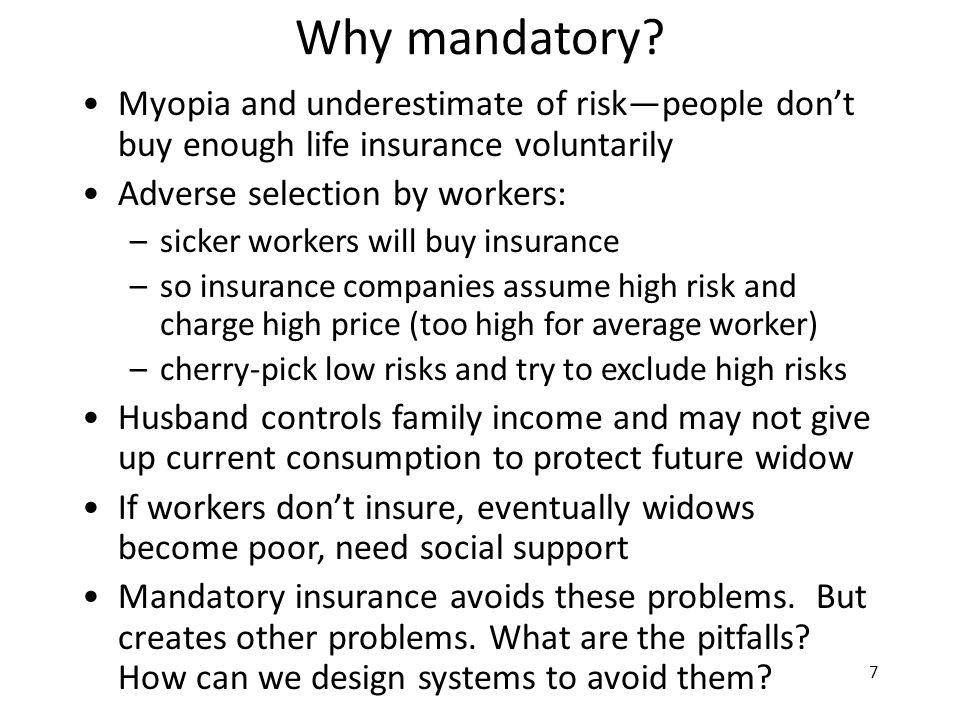 7 Why mandatory.