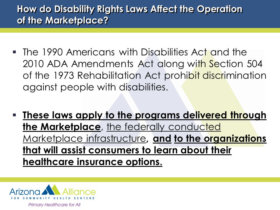 How do Disability Rights Laws Affect the Operation of the Marketplace.