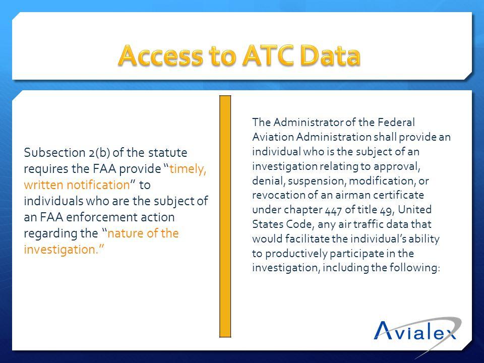 (A) Relevant air traffic communication tapes between flightcrews and ATC (B) Radar information.