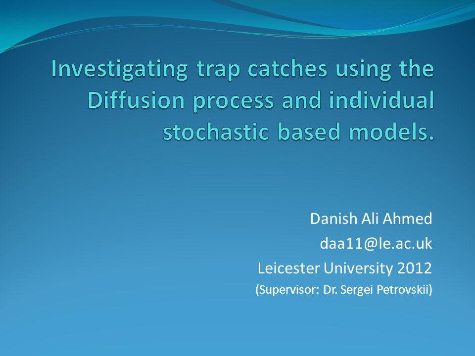 Danish Ali Ahmed daa11@le.ac.uk Leicester University 2012 (Supervisor: Dr. Sergei Petrovskii)