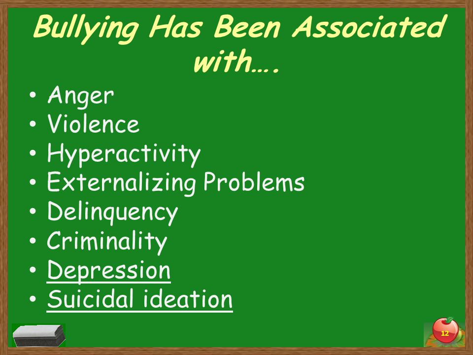 Bullying Has Been Associated with….