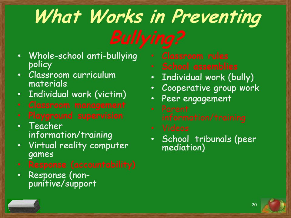 What Works in Preventing Bullying.