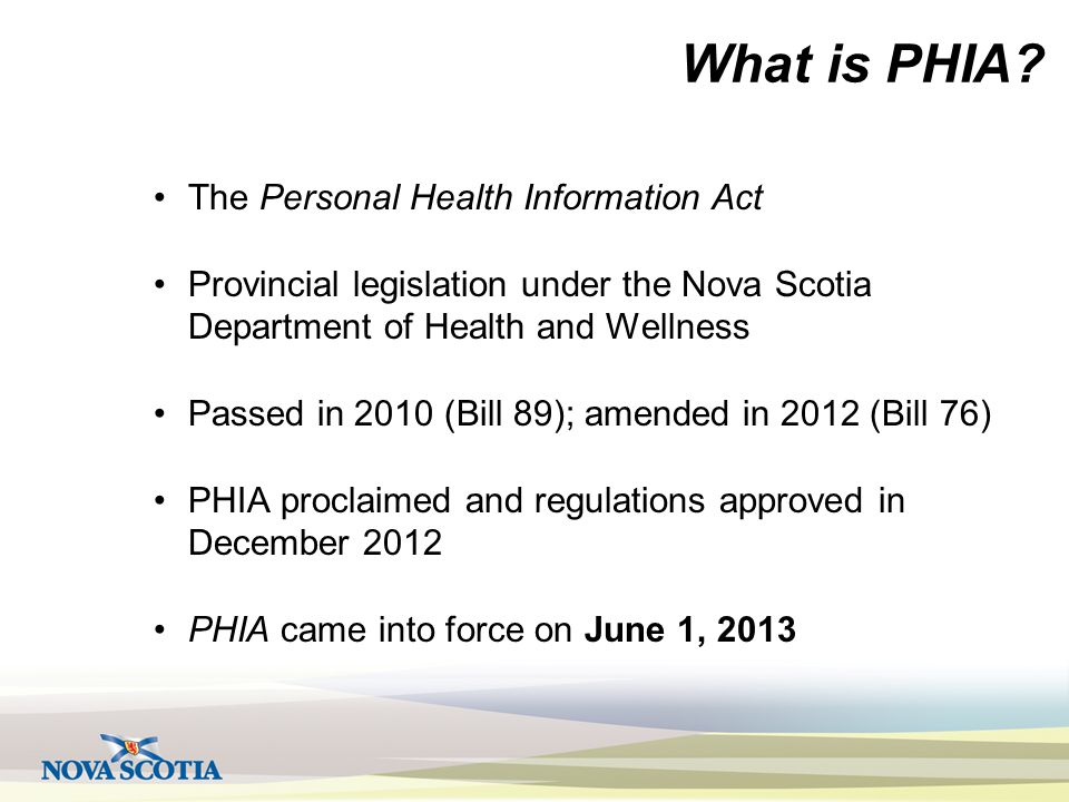 What is PHIA.