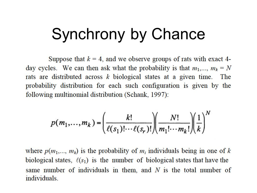 Synchrony by Chance
