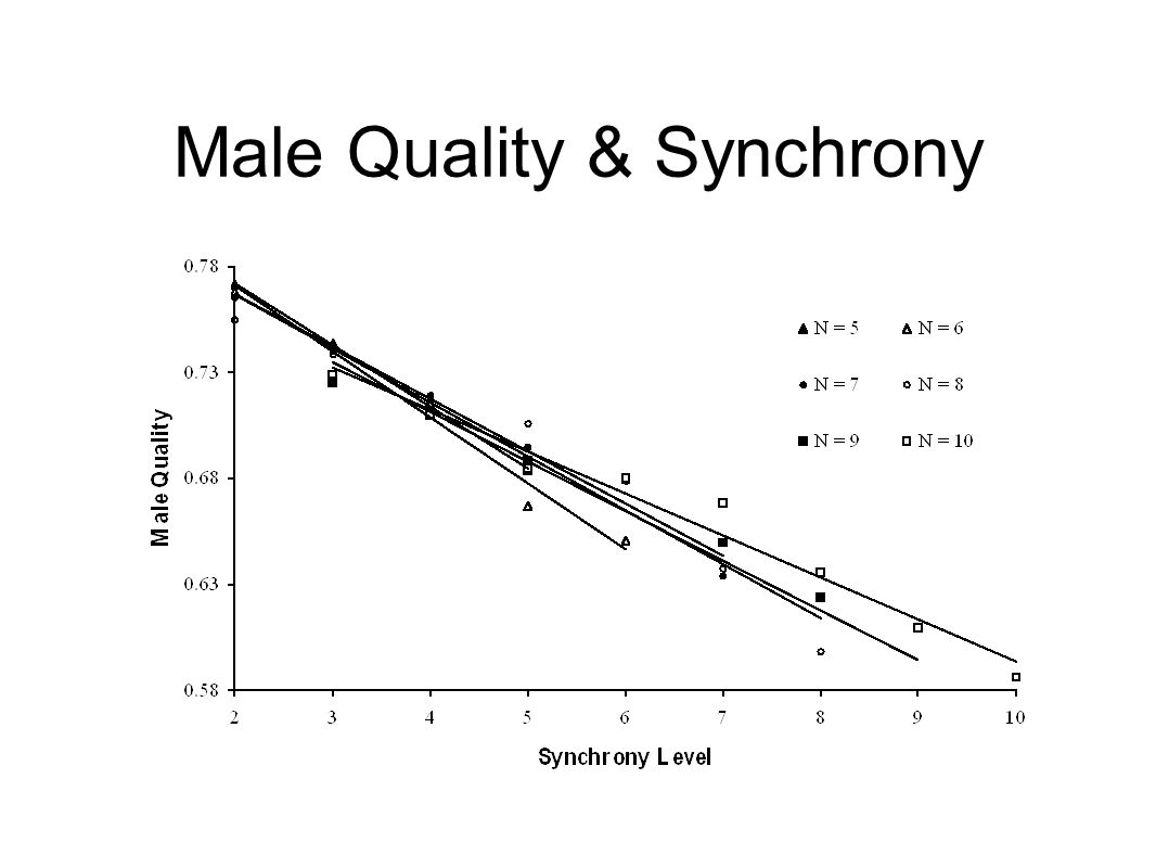 Male Quality & Synchrony