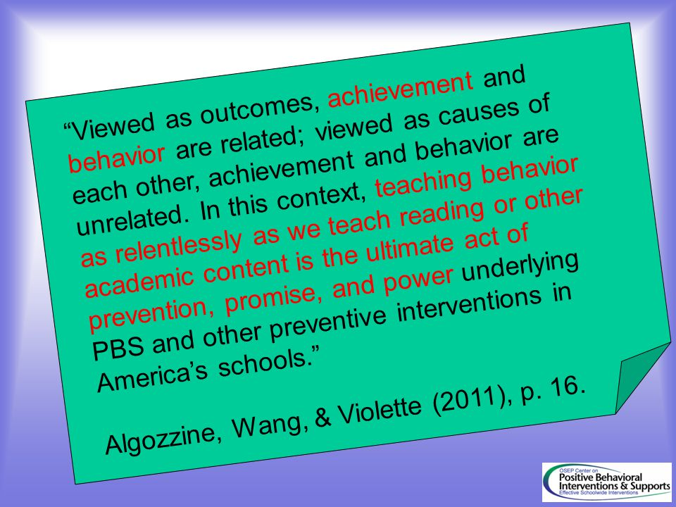 Viewed as outcomes, achievement and behavior are related; viewed as causes of each other, achievement and behavior are unrelated.