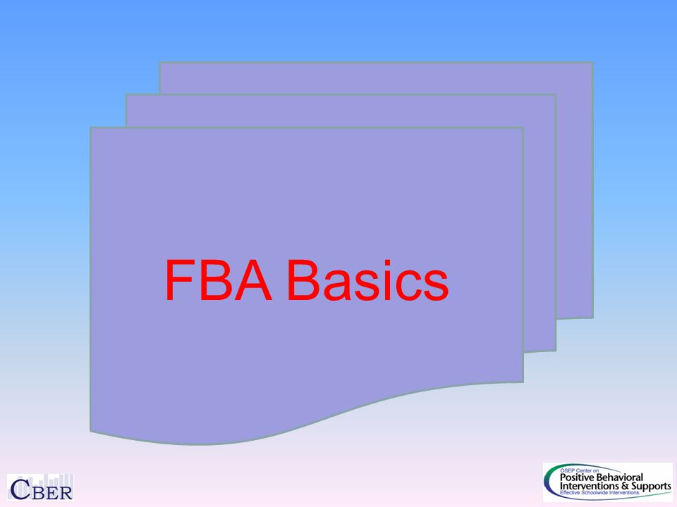 FBA Basics
