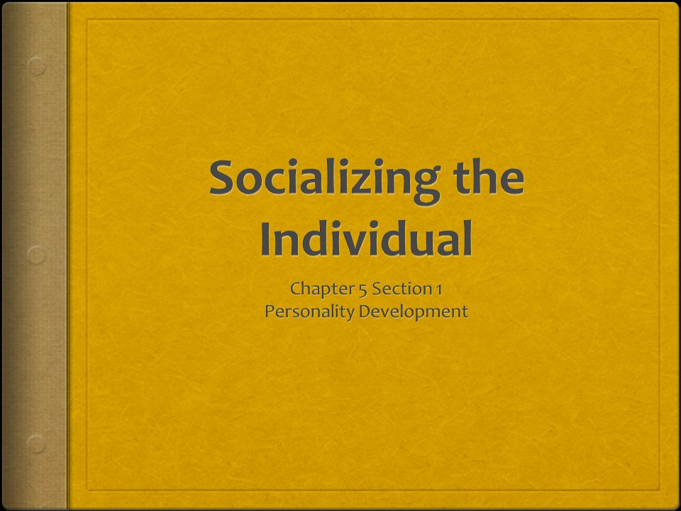 Personality Development  Objectives:  1.