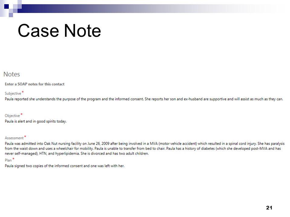 Case Note 21