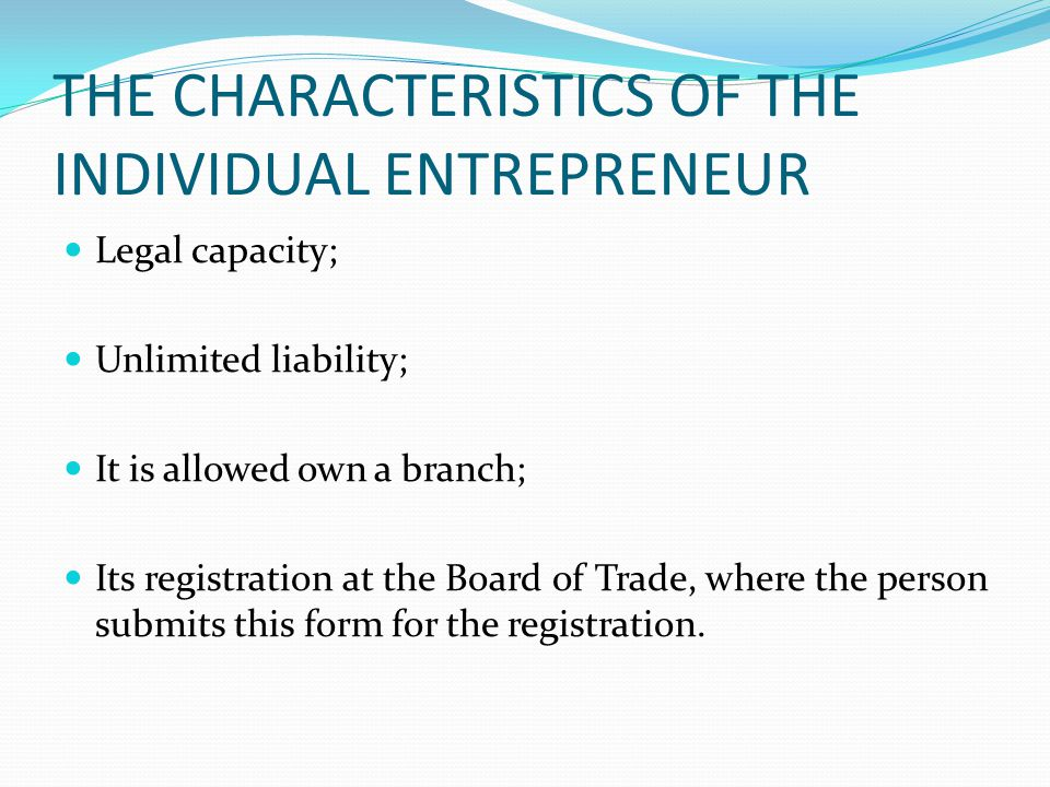 CONCEPT OF INDIVIDUAL MICRO- ENTREPRENEUR (MEI) The MEI was created by Complementary Law 128/08, and it defined it as: MEI is considered an individual entrepreneur referred to in Article 966 of the Civil Code, which has earned gross revenues in the preceding calendar year, up to R$ 60,000.00 (sixty thousand reais).
