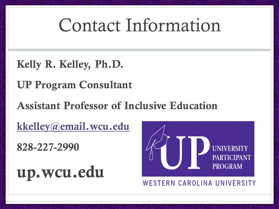 Contact Information Kelly R. Kelley, Ph.D.