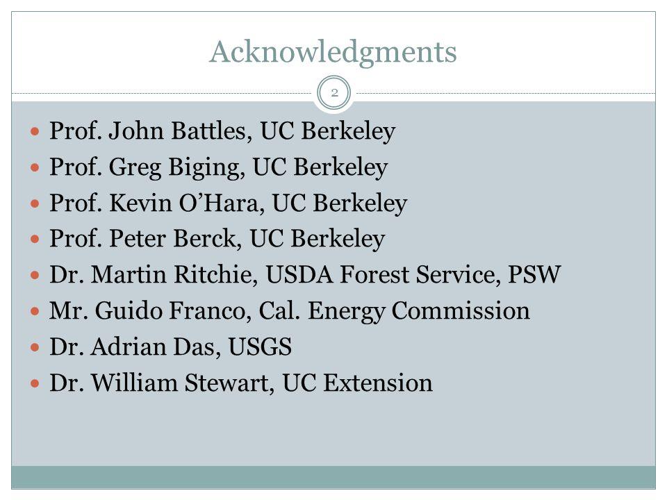 Acknowledgments Prof. John Battles, UC Berkeley Prof.