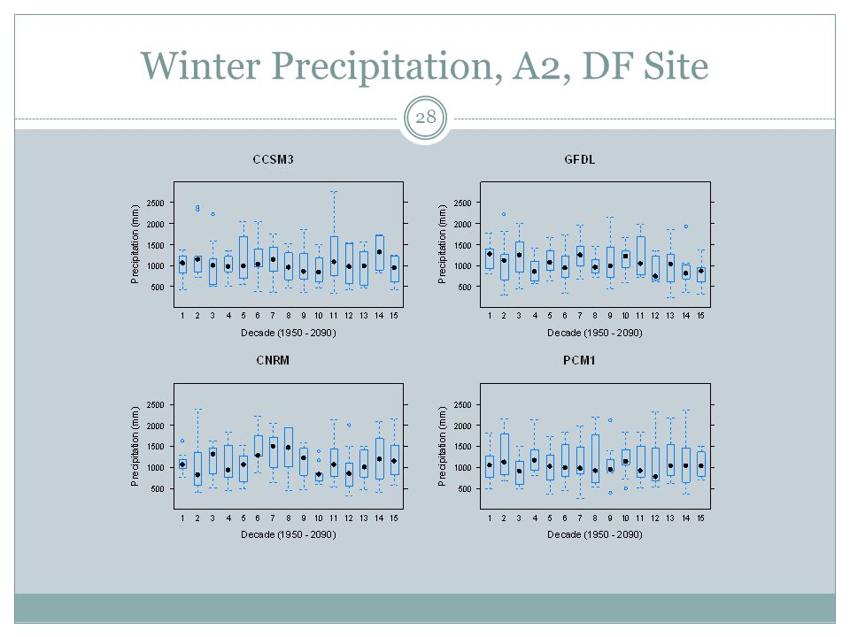 Winter Precipitation, A2, DF Site 28