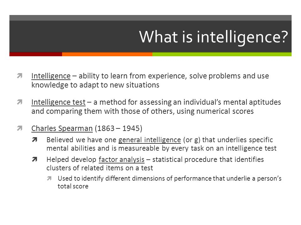Dynamics of Intelligence: Stability or change.