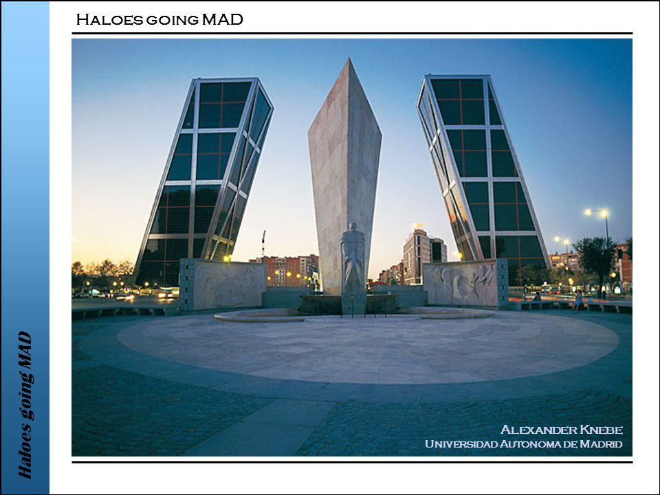 Haloes going MAD Alexander Knebe Universidad Autonoma de Madrid