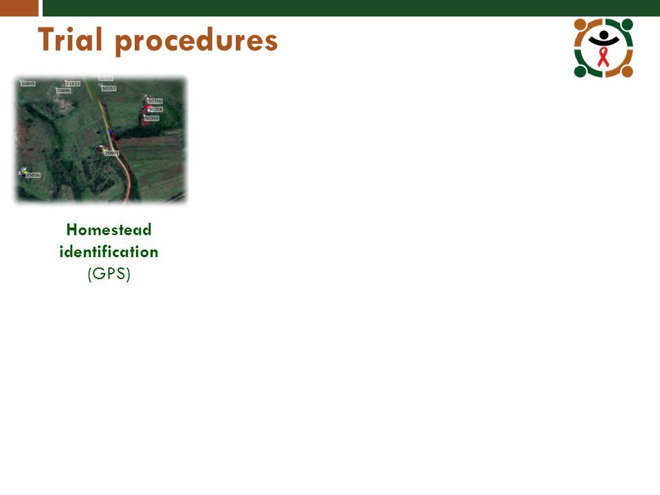 Trial procedures Homestead identification (GPS)