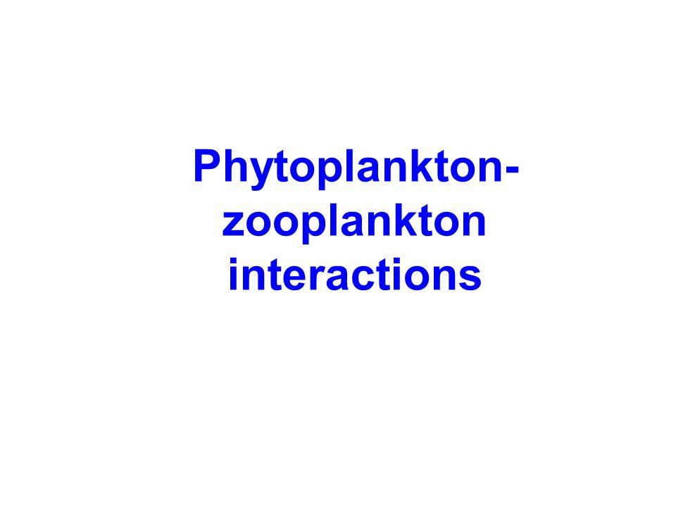 Phytoplankton- zooplankton interactions