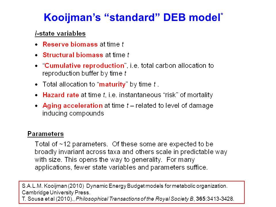 Kooijman's standard DEB model equations