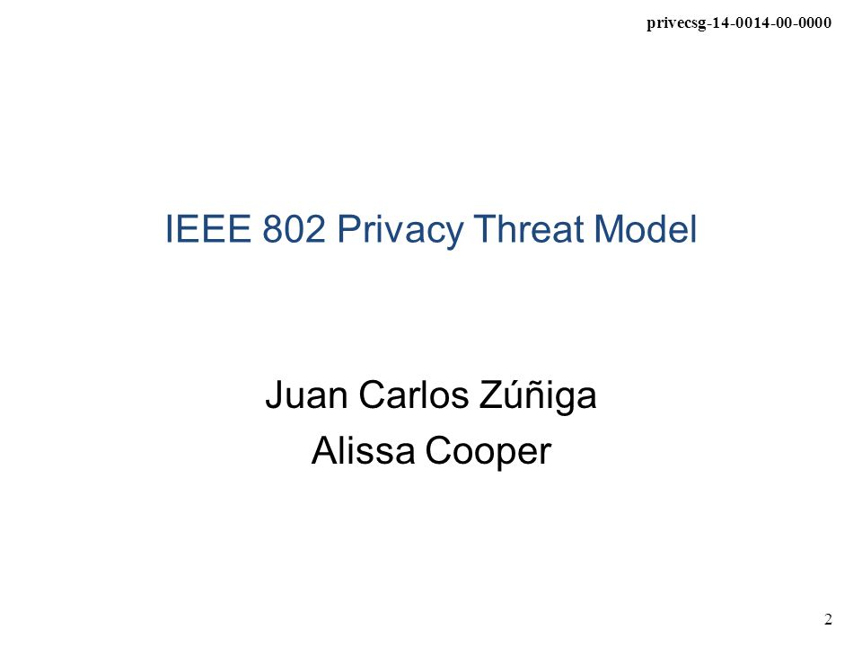privecsg-14-0014-00-0000 3 Introduction Privacy is a complicated concept that spans multiple disciplines Privacy can have different legal meanings and can be interpreted differently by different jurisdictions Other SDOs such as IETF have been able to provide general technical guidelines to Internet protocol developers, without references to legal frameworks