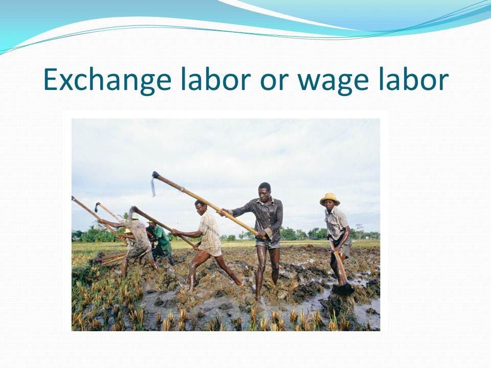 Exchange labor or wage labor