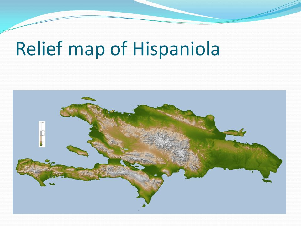Relief map of Hispaniola
