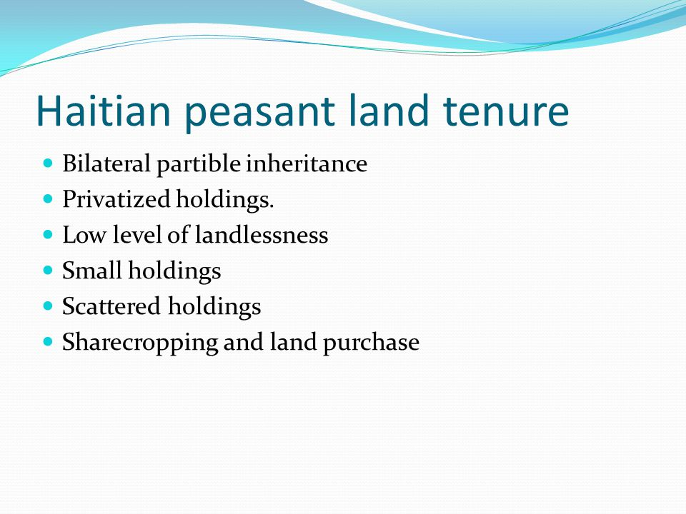 Peasant cropping Technology: Hoe and machete Water: Rainfall Land clearing: Deforestation and erosion Absence of fallow Conversion to pasture