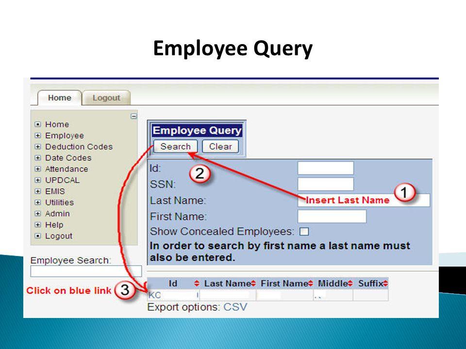 Employee Query