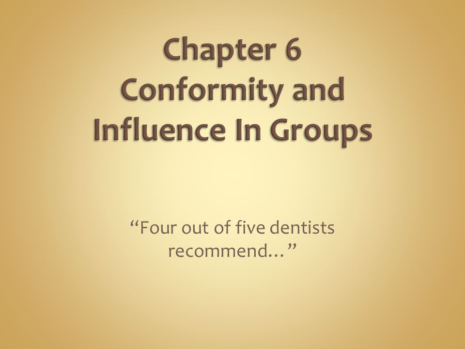 Four out of five dentists recommend…