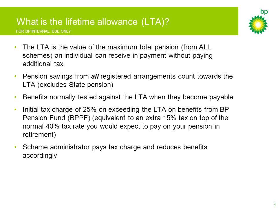 FOR BP INTERNAL USE ONLY LTA calculator screenshots 24