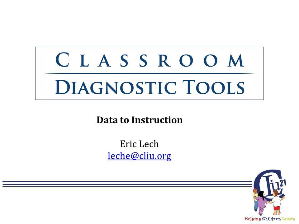 Data to Instruction Eric Lech leche@cliu.org