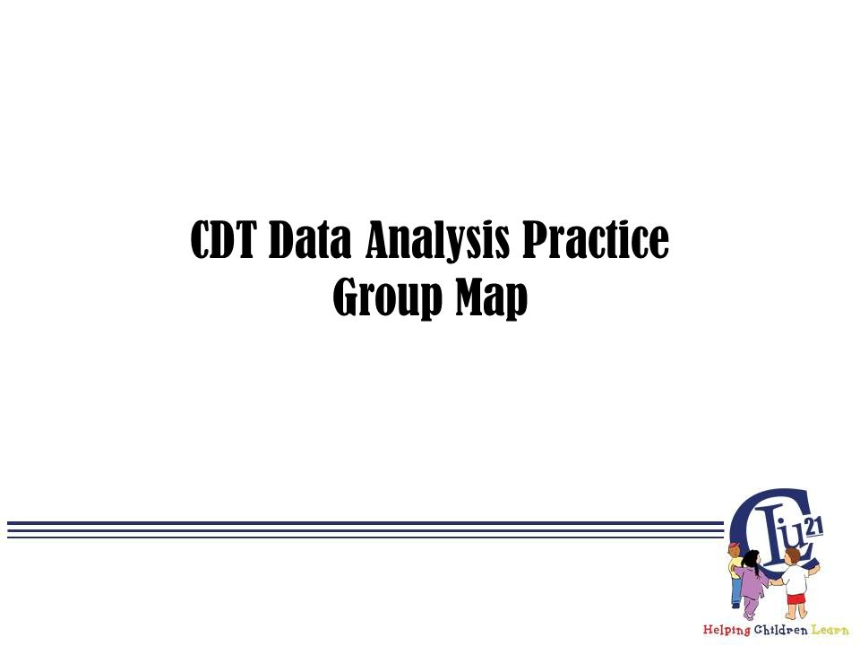 CDT Data Analysis Practice Group Map