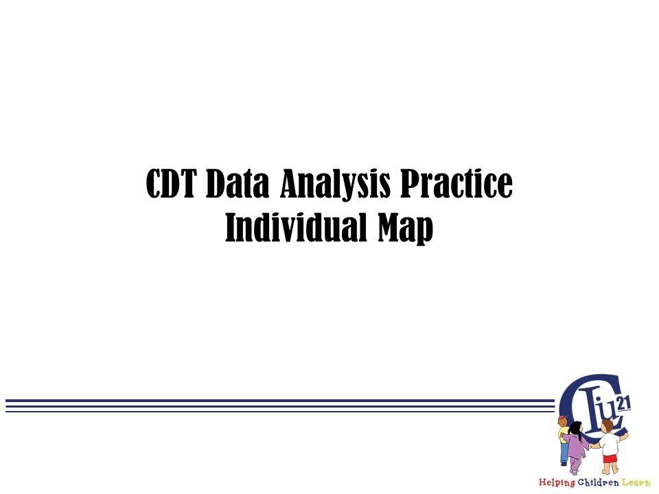 CDT Data Analysis Practice Individual Map