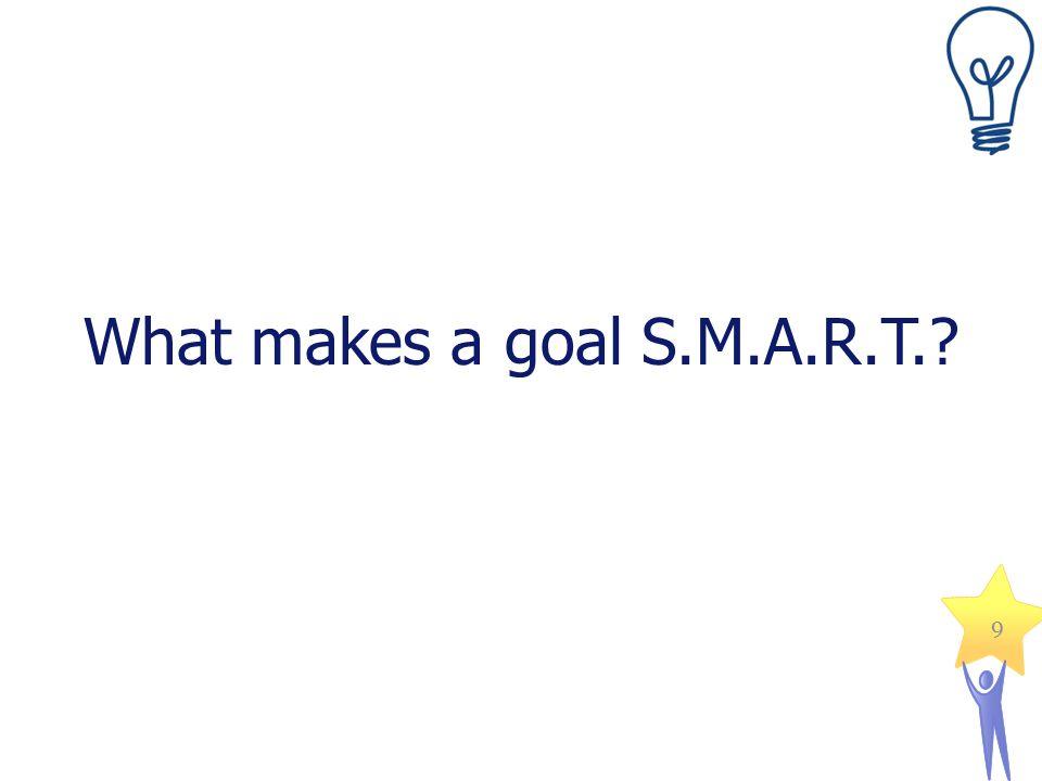 What makes a goal S.M.A.R.T.? 9